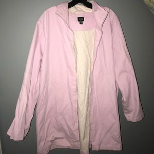 Pink Eileen Fisher raincoat